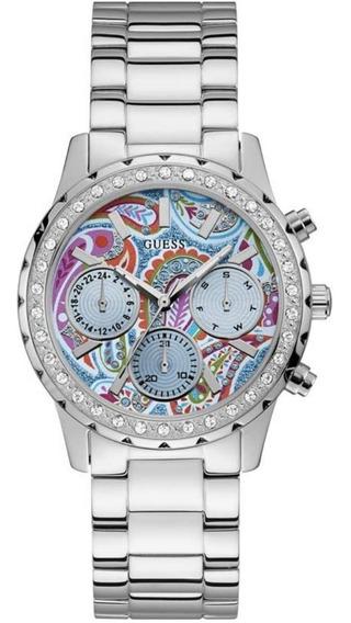 Relógio Feminino Guess 92695l0gsna1 Prateado Original C/ Nf