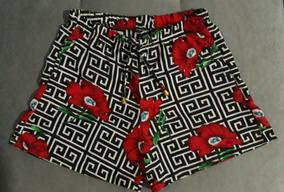 Shorts Feminino Kit 10 Estampado Floral Atacado