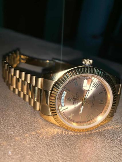 Relogio Rolex Modelo Day-date Safira Automático