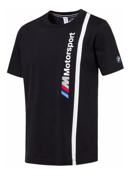 Camiseta Puma Bmw Mms Masculina Manga Curta 100% Algodão