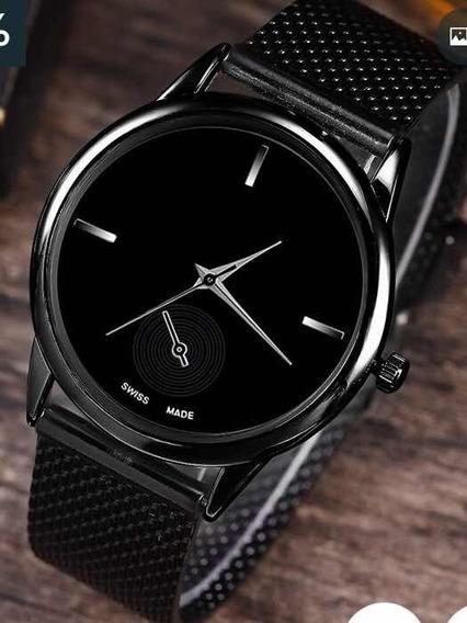 Relógio Analógico Pulseira De Metal . Unisex