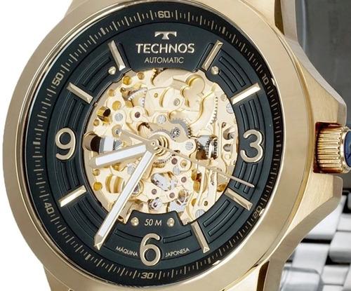 Relógio Technos Masculino Automático Dourado 8n24ak/4p