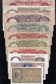 Argentina Lote Serie Completa Billetes Pesos Moneda Nacional