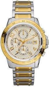 Relógio Guess Masculino Dourado Original - Frete Grátis