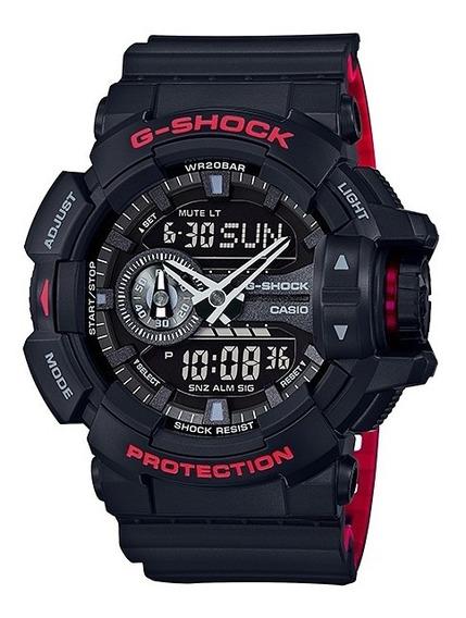 Relógio Casio G-shock Ga-400hr-1adr Ga 400hr Preto Vermelho