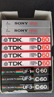 Cassettes Para Audio Nuevos Y Sellados Sony Tdk Crown