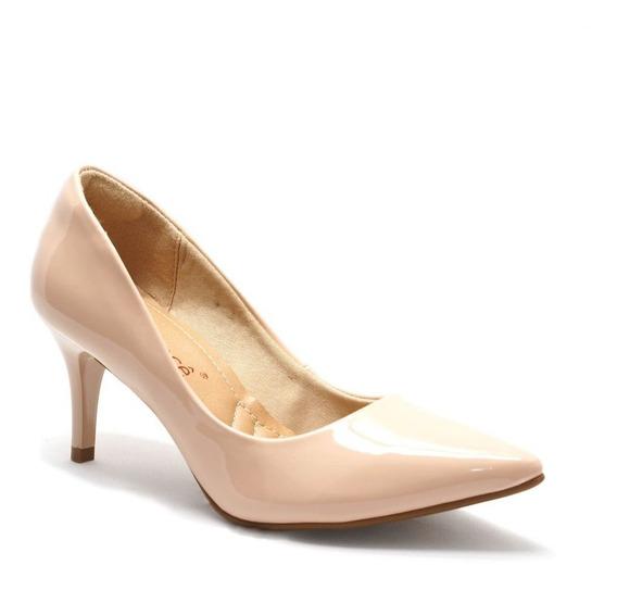 Sapato Feminino Scarpin Nude Bebecê