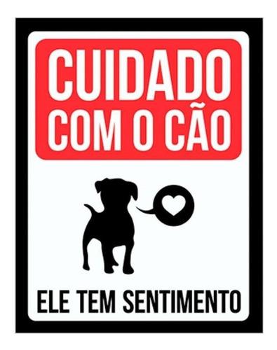 Placa Decorativa Cão Pet Cachorro Com Sentimentos
