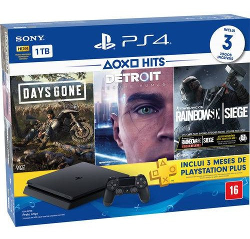 Vídeo Game Console Sony Ps4 Slim Br Hits Bundle 5