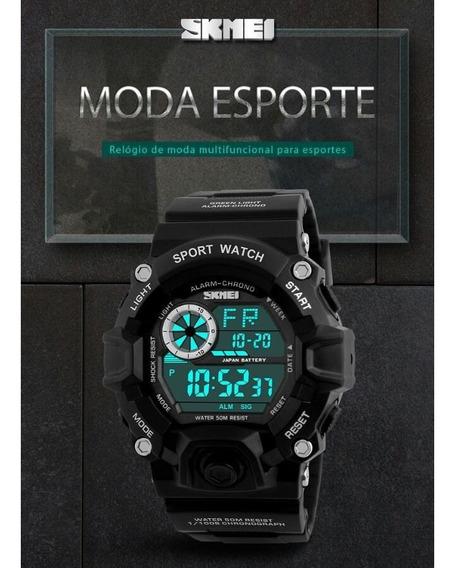 Relogio Masculino Skmei 1019 Digital Esportivo + Caixa Metal
