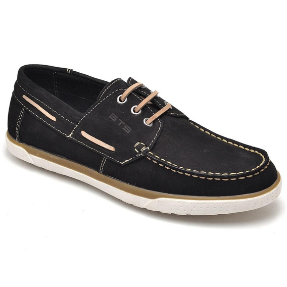 Mocassim Masculino Dock Sider Casual Ranster Em Couro
