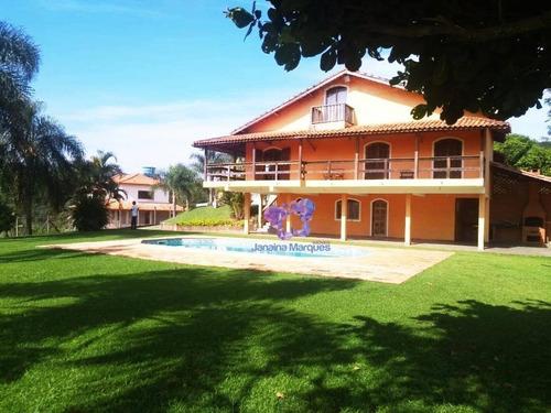 Chácara Com 3 Dormitórios À Venda, 2500 M² Por R$ 750.000,00 - Pousada Bandeirantes - Araçariguama/sp - Ch0083