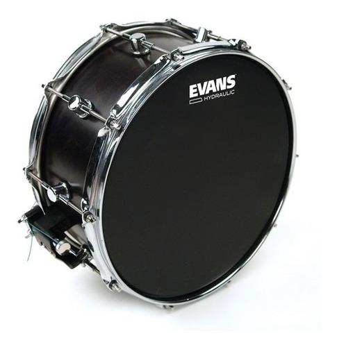 Parche Evans 14 Hydraulic Black Hidráulico Negro Redoblante