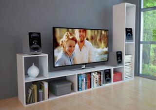 2 Módulos Rack Forma De L Colores Tv Mosconi 81012 Demuebles