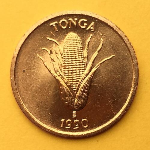 Tonga - Moneda 1 Senti 1990 - Maíz, Vainilla ¡ Nueva !
