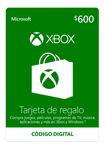 Imagen 1 de 1 de Dinero Xbox Live $600.00 En Promoción, Envio Inmediato!