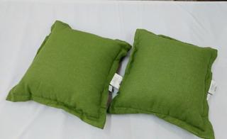 Juego De Almohadas (cojines) Threshold Color Verde 2 Piezas