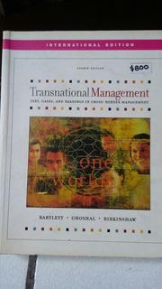 Transnational Management (bartlett, Ghoshal Y Birkinshaw)
