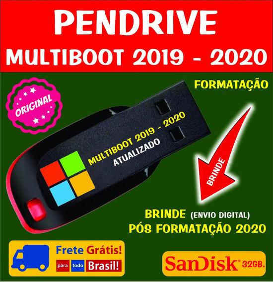 Pendrive Sandisk / Multiboot / Brinde Pós Formatação 2019-20