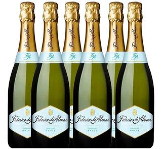 Champagne Espumante Federico Alvear Dulce 750ml Caja X6 Pack