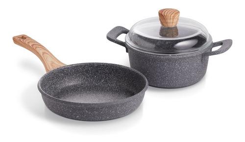 Imagen 1 de 9 de Maestro De Cocina - Set Granito Sarten 20cm & Cacerola 20cm