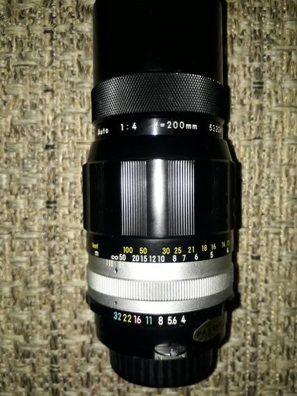 Nikon 200mm F/4 Manual Pré Ai