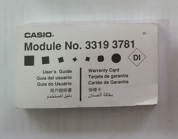 Manual Original Relógio Casio Aq-160 Module 3319 3781