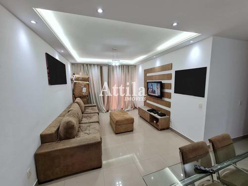 Apartamento 2 Dormitórios No Coração Do Gonzaga Em Santos. - V1610