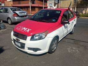 Taxi Chevrolet Aveo Con Placas