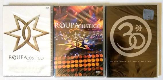 Roupa Nova Acustico 1 E 2 + 30 Anos - Dvds Originais Lacrado