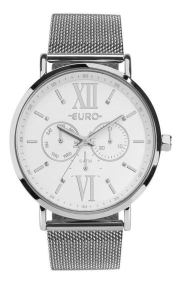 Relógio Feminino Euro Eu6p29ahfbp/3k 43mm Aço Prata