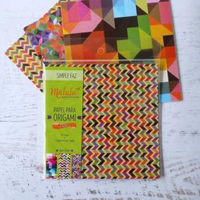 Papel Para Origami Malula 15 X 15 Cm Y Más De 100 Motivos!