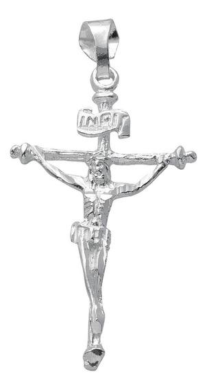 Dije Cristo Largo Cruz Delgada Plata 0.925 - 1337