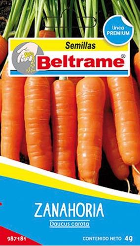 Semillas De Zanahoria Daucus Carota Beltrame 4g Huerta