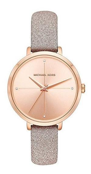 Michael Kors Relógio Festa Charley Rose Gold Couro Mk2794