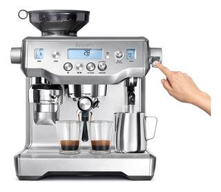 Máquina Cafetera Para Espresso Oracle, Bes980xl De Plata