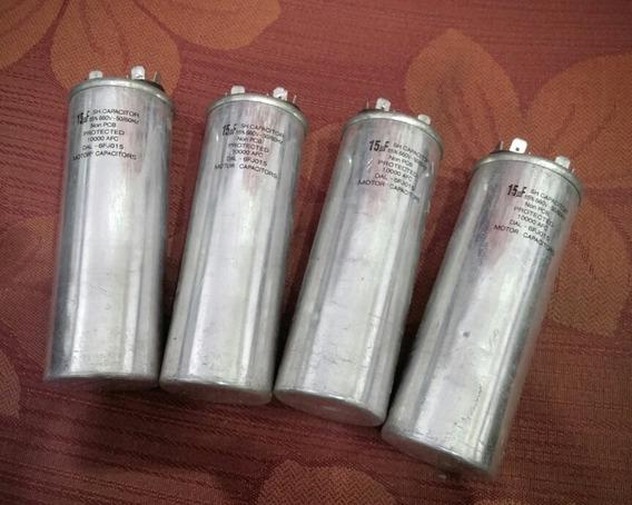Kit 4 Pçs Capacitor 15uf 660v 6fj015 Fator Potência-motor