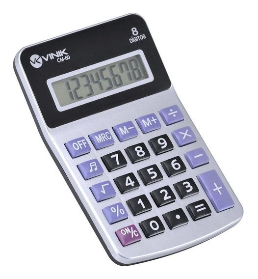 Calculadora Mesa 8 Dígitos C/ Botão De Bipe - Cm60