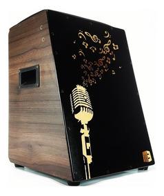 Cajón Elétrico Acústico Com Captação Profissional Microfone