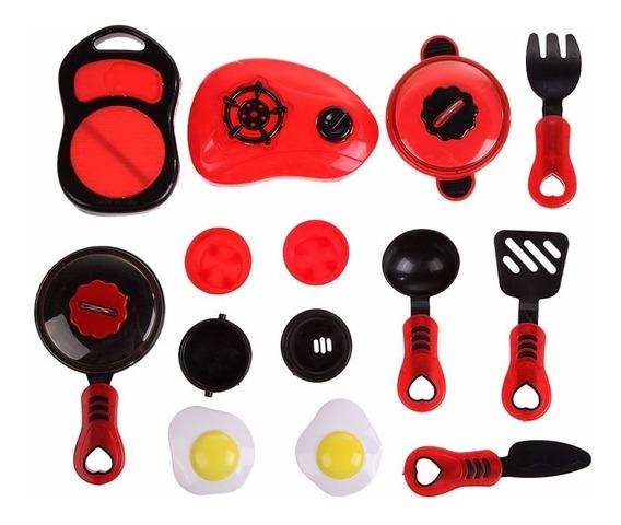 Kit Cozinha Brinquedo Infantil Vermelha - Pronta Entrega
