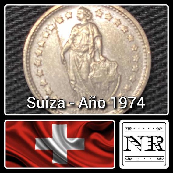 Suiza - 1/2 Franco - Año 1974 - Km #23a - Helvetia De Pie