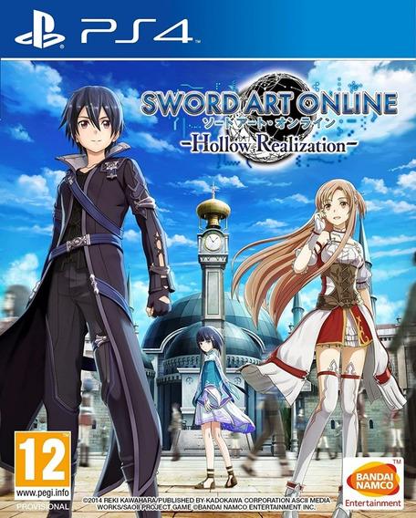 Sword Art Online Hollow Realization Ps4 Midia Fisica Novo