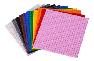 Bases Tipo Lego 100% Compatibles Pack 6 Colores / Barbazar