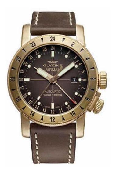 Relógio Glycine Gl0166 Airman 44 Bronze Gmt