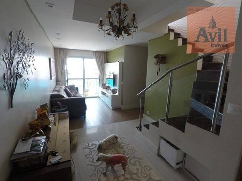 Cobertura Com 3 Dormitórios À Venda, 157 M² Por R$ 1.027.000,00 - Tatuapé - São Paulo/sp - Co0091