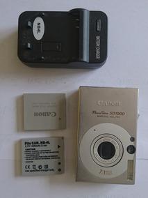 Câmera Canon Powershot Sd1000 Carregador E Duas Baterias