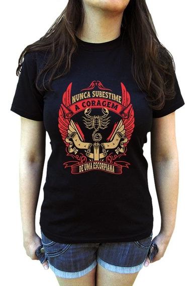 Camiseta Signo Escorpião Feminina