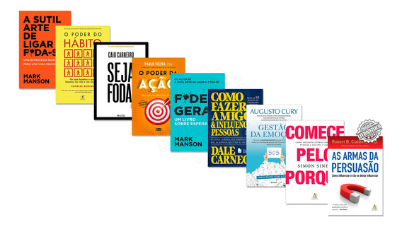 Kit 9 Livro Armas Da Persuasão Poder Da Ação Poder Do Hábito