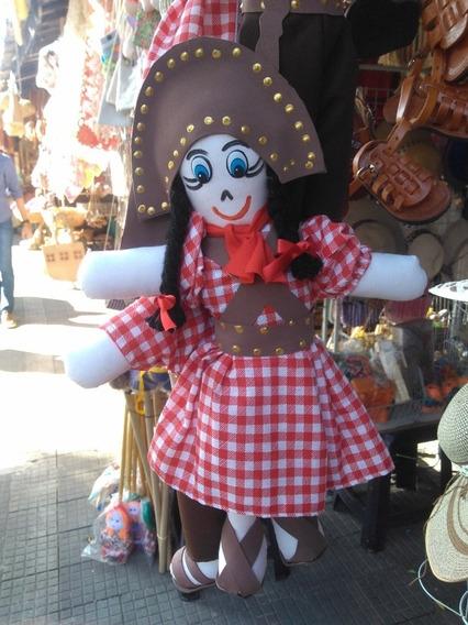 Bonecos De Pano - Lampião E Maria Bonita (dois Bonecos)