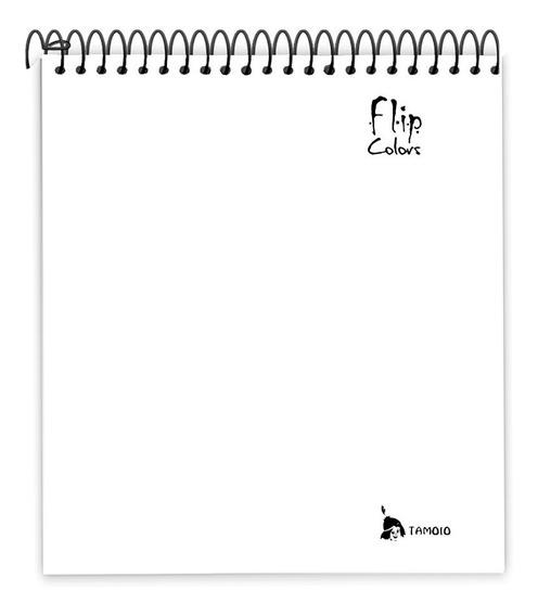 Caderno Para Canhotos Com 10 Matérias Tamoio Flip Colors
